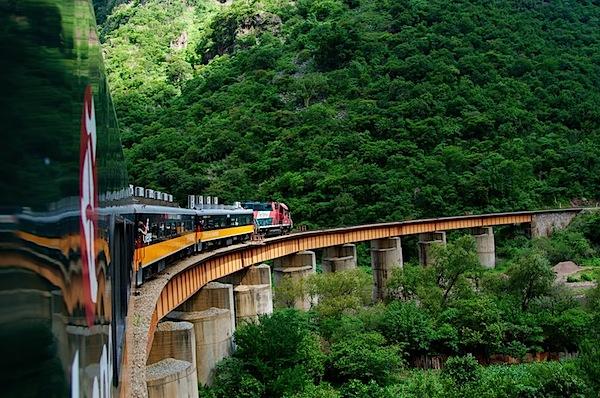 6 Train On Bridge with Big Curve - Copper Canyon, Mexico - Copyright 2011 Ralph Velasco.jpg