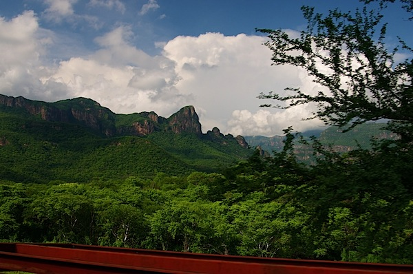 8 Landscape with Red Girder in Front - Copper Canyon, Mexico - Copyright 2011 Ralph Velasco.jpg