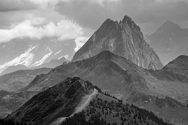 Black and white photography the großglockner