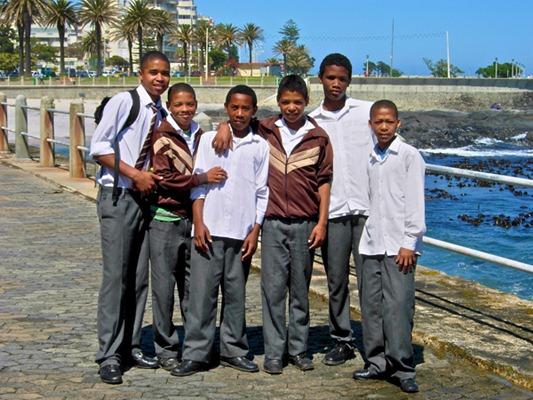 School boys in Capetown