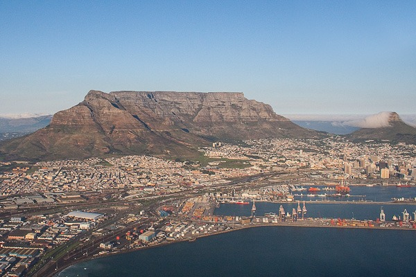Table Mountain and Table Bay