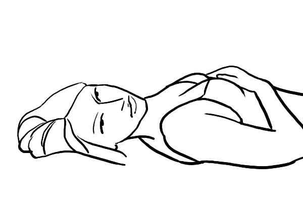 pose for women lying on back