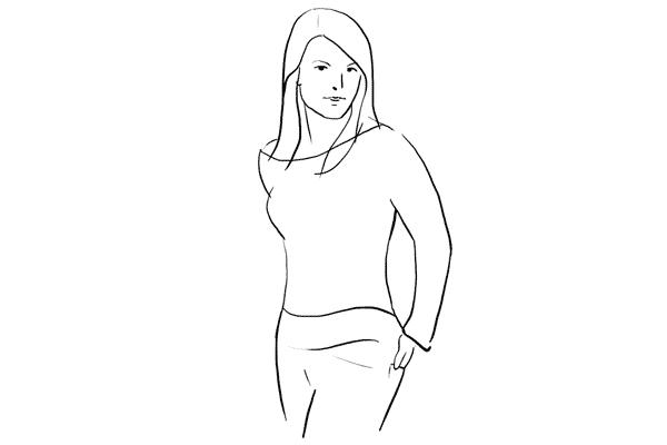 standard pose for women