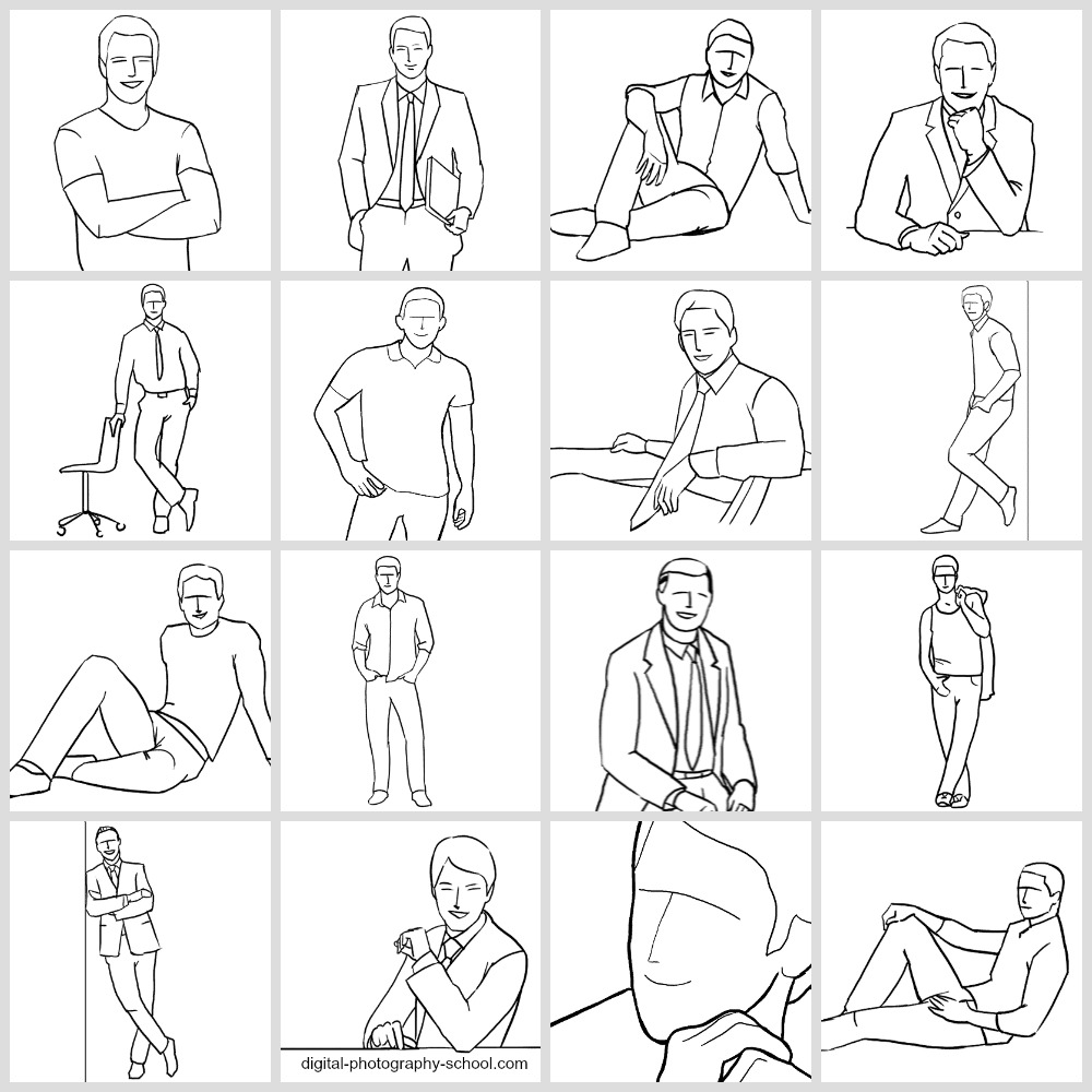 How to pose for photographs men