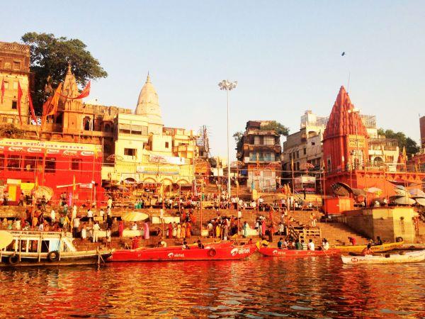 Image: Ghats at sunrise, Varanasi, India