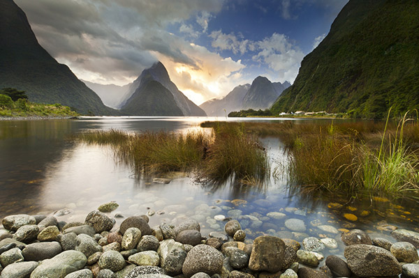 Image: Milford Sound, Fiordland New Zealand. The star of this image is the dramatic light playing ou...