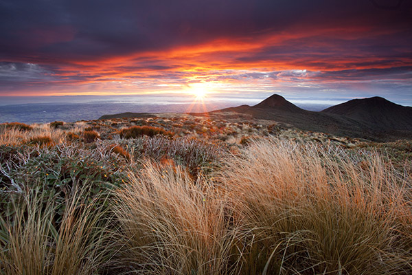 Image: Sunrise from Mt Taranaki / Egmont, New Zealand. In this image the main act was the rapidly di...