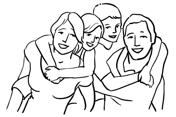 piggyback family pose