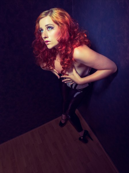 Image: Wide angle used creatively with modelphotography