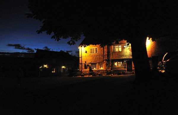 Pub at night