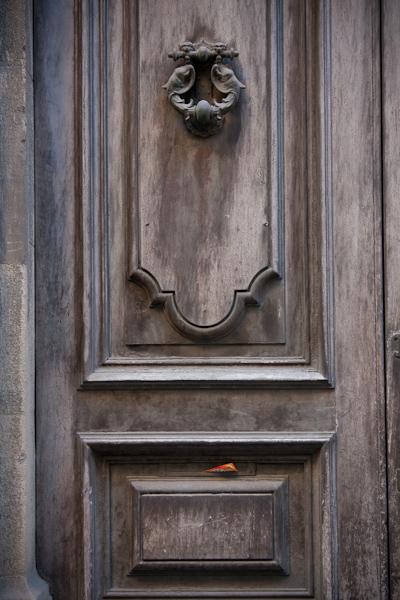 Old Florence Door with Pizza Menu
