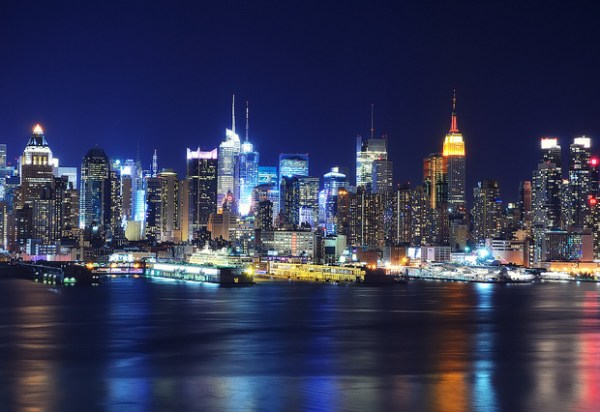 Midtown Manhattan at Night from Old Glory Park
