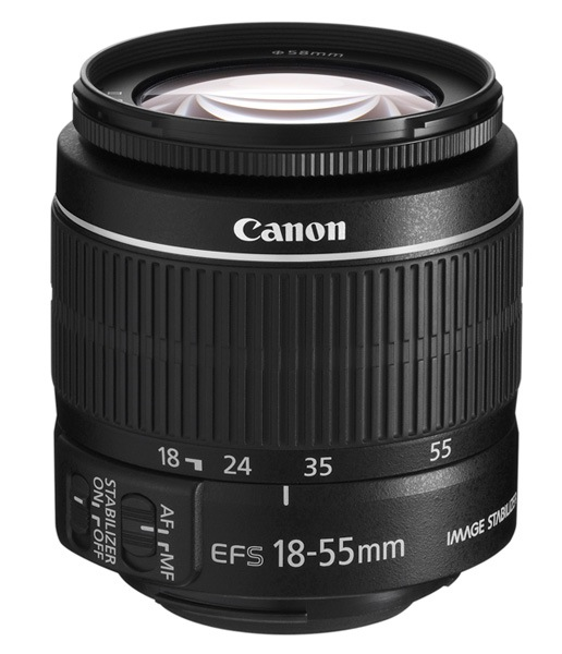 kit lens with 18-55mm focal length