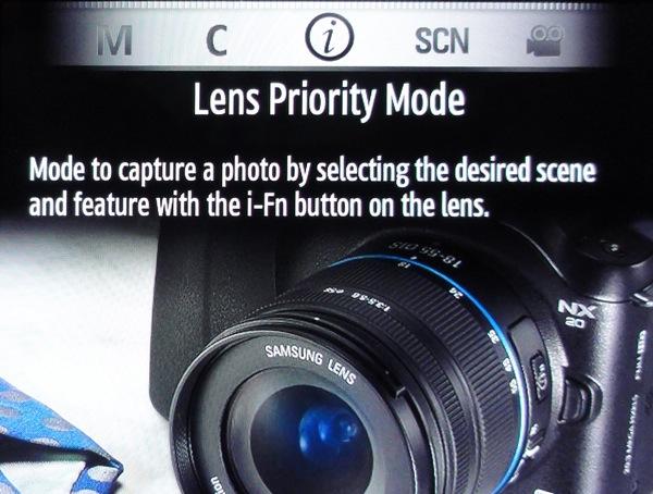 Lens priority
