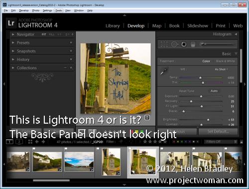 Understanding Lightroom Process Versions