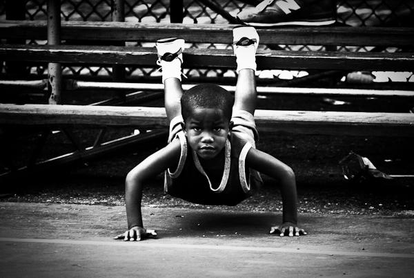 Pushups, Rucker Park, Harlem