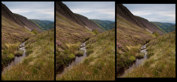 Bwlch Y Groes, Wales, UK presented in three different portrait formats