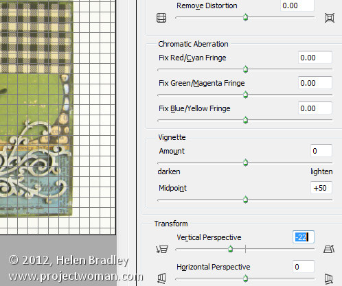 Photoshop perspective correction step3