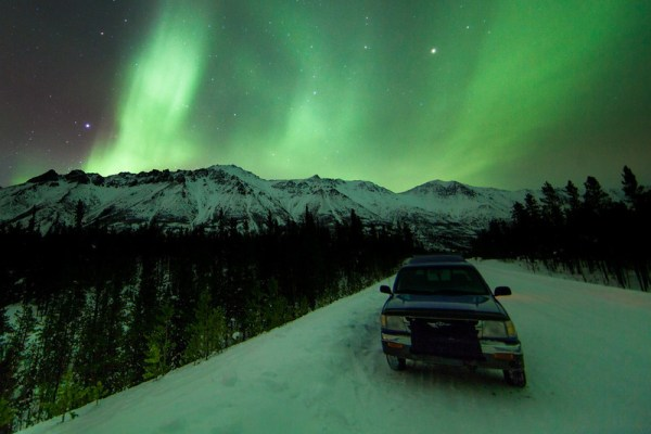 Image: On location at Annie Lake Road: Canon 5D Mark II, 14mm lens, 30 secs, f2.8, ISO800