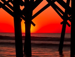 Pier at Folly Beach, Charleston, South Carolina.