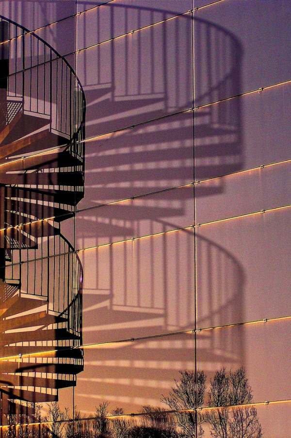 Reflection and Shadow - Spiral Staircase