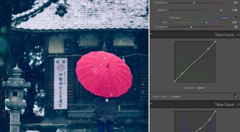 Japanese Temple in the Snow - Creative Color
