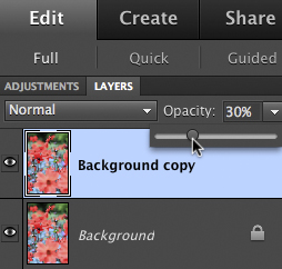 Reduce Layer Opacity