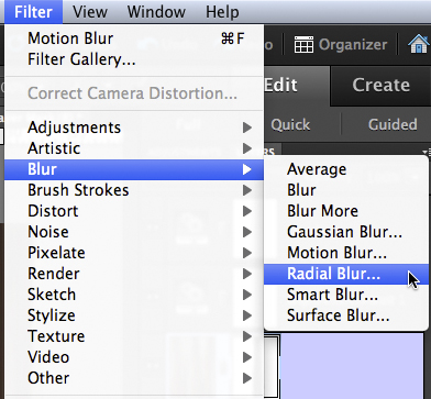 Photoshop Radial Blur Filter