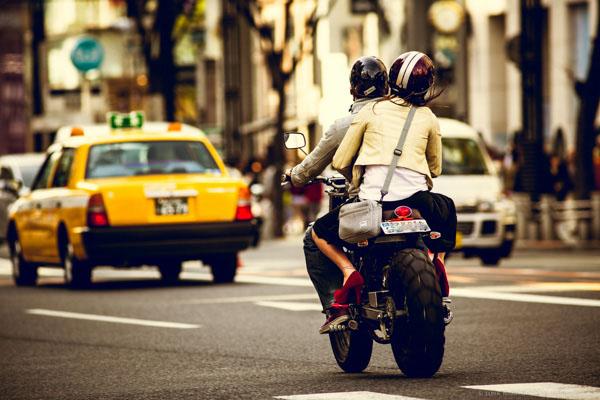 Tokyo street scene with creative color