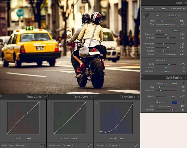 Tokyo street scene color settings