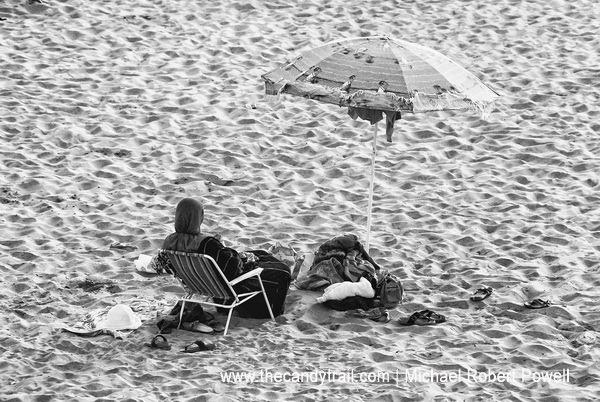woman at beach morocco