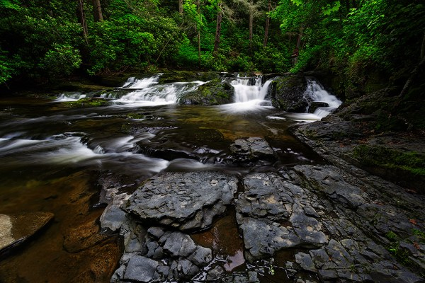 Image: When I came upon this small cascade, I felt it would make a nice image. I began working up cl...