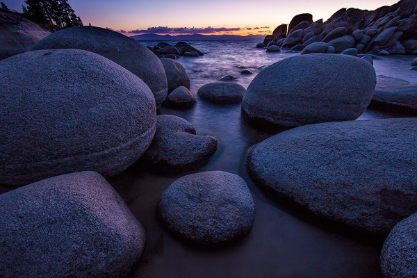 Image: These rocks made a beautiful foreground to place against the warm tones created by the sunset...