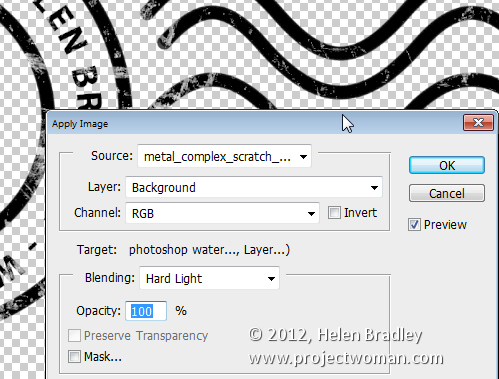Make a watermark image in photoshop step15