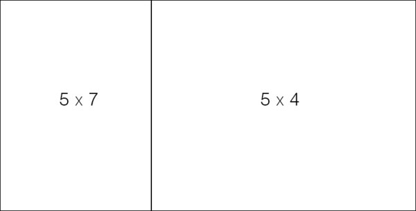 A 5x7 image next to a 5x4 image places the division between the images almost exactly at the golden ratio line of the larger diptych.