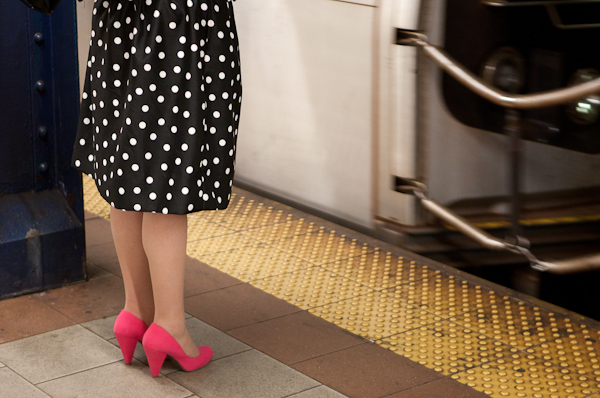 N-R Train, Polka Dots and Pink Shoes