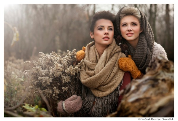 This is a really nicely executed stock image. Are the two ladies friends, or lovers? Is this image about fashion, seasons, or simply looking toward the future? The image provides options for the copy writer, and the more options provided typically the better sales. However, this image has only been licensed twice in more than one year. The license for appearance here cost one credit or about 60 cents; the photographer will receive, unfortunately,  about 12 cents.