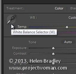 Lightroom white balance 2
