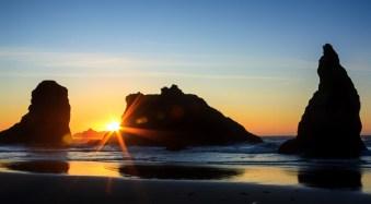 Sunset at Bandon Beach, Oregon, by Anne McKinnell