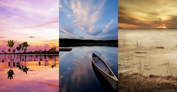 Using Water to Lighten Landscape Photos