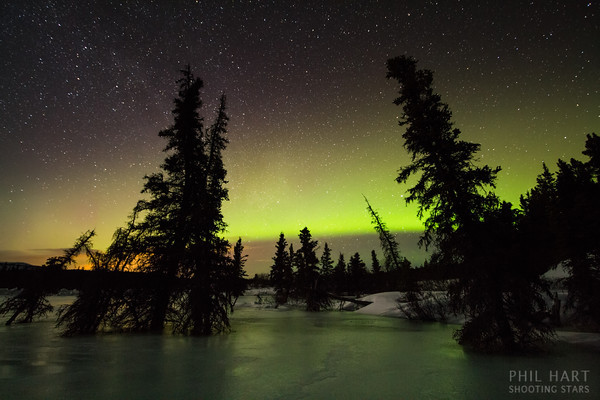 Image: Annie Lake Aurora Reflections in Ice