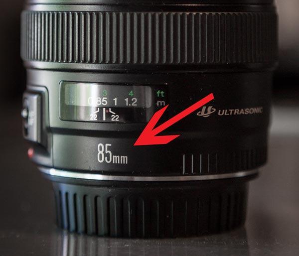 lens 85mm focal length number