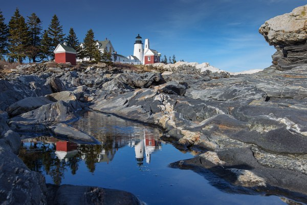 This is probably the most photographed puddle in New England, but it's great for producing a reflection of Pemaquid Point Lighthouse. Reflections add interest to images so always be on the lookout. EOS-1D Mark IV, EF 16-35mm f/2.8L II. ISO 100, 1/20, f/16.