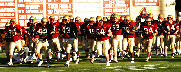 high school football in good light