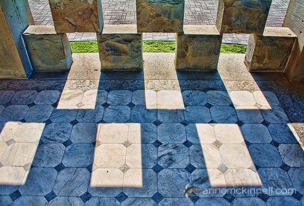 Sandstone blocks and shadows by Anne McKinnell