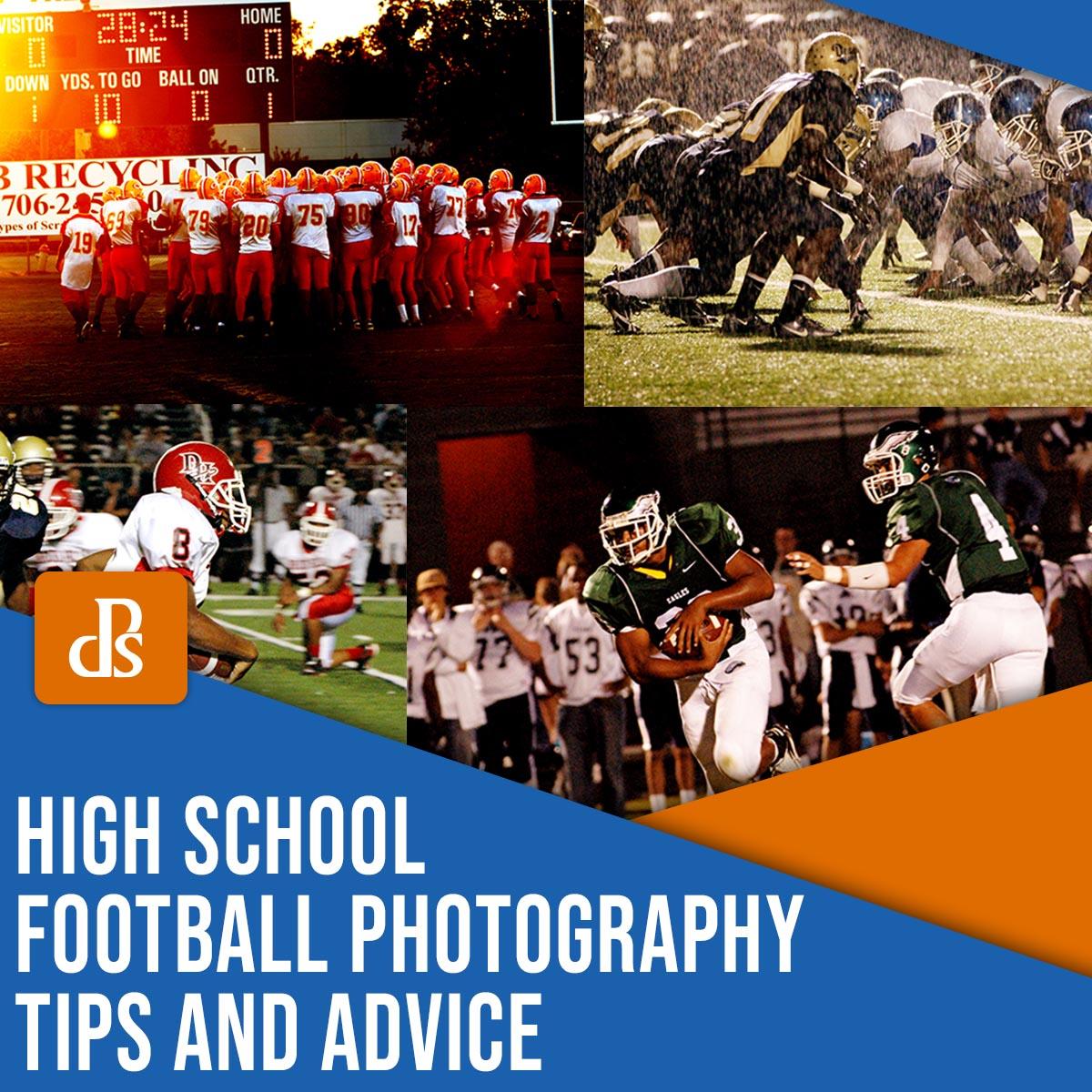 high school football photography tips and advice