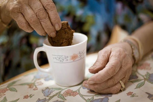 "Tea and cookies at Grammy's. For as long as I can remember she's been feeding us. ""Do you want a cookie dear?"""