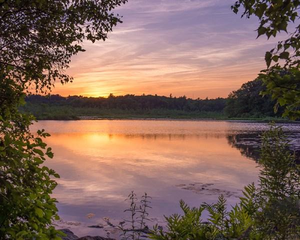 sunset at stony brook