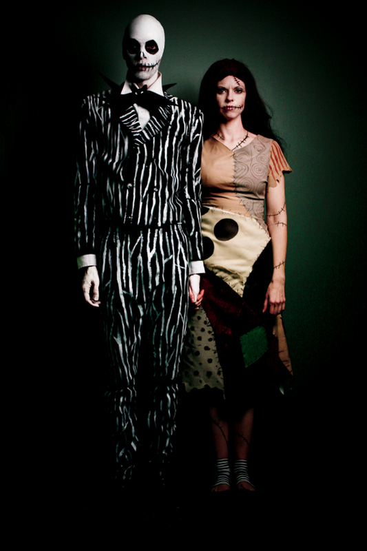 self-portrait as Jack & Sally from the Nightmare Before Christmas