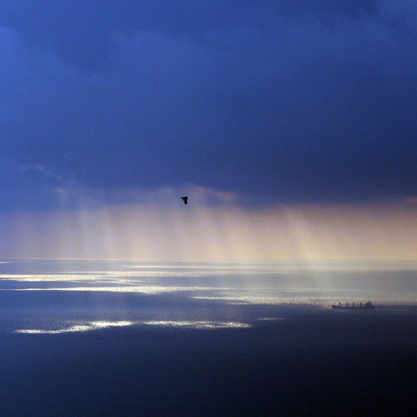 Dawn over the Gibraltar strait